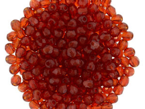 FP-2,5-90080 Fire Polished Siam Ruby 2,5 mm.-0