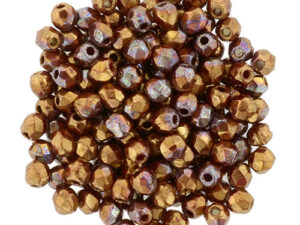 FP-2,5-93200LH Fire Polished, Bronze Luster Iris - Opaque Red 2,5 mm.-0