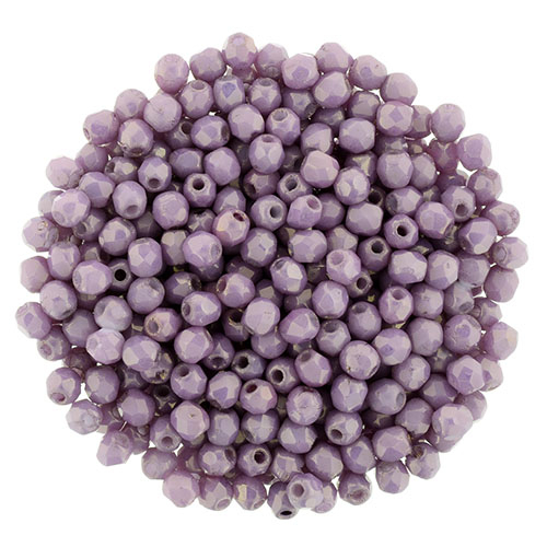 FP-2,5-LZ02010 Fire Polished Luster - Opaque Lilac 2,5 mm.-0