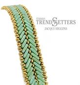 Cypress Leaf Bracelet, Free Pattern with CzechMates™ Beam Beads.-0