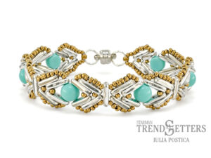 Protect Me Bracelet, Free Pattern with CzechMates™ Beam Beads.-0
