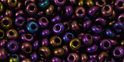TM-03-0085 Metallic Iris Purple Magatama 3 mm. TOHO-0