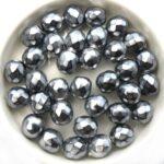 0020300 Jet Snake Silver facet 8 mm. 15 stuks-0