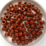 0030082 Opaque Chocolate Brown Roller Bead. 40 Pc.-0