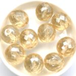 0040214 Crystal Champagne Luster, Facet 14 mm. 6 Pc.-0