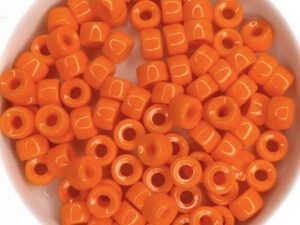 0060015 Opaque Orange ( Hyacinth) Roller Bead. 40 Pc.-0