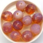 0070290 Pink Opal, Facet 14 mm. 4 Pc.-0