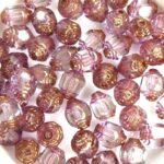 0080515 Crystal Bronze Lantern Facet Beads 15 Pc.-0