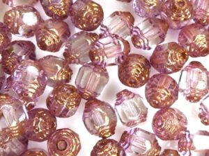0080515 Crystal Bronze Lantern Facet Beads 15 Pc.-0