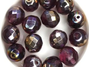 0080551 Amethyst Capri Gold, Facet 12 mm. 6 Pc.-0