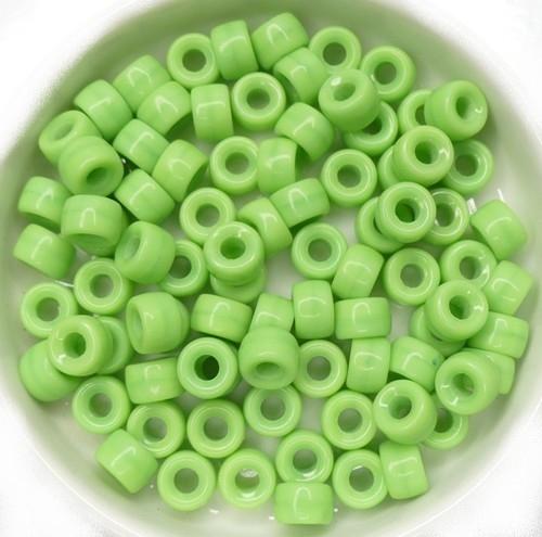0100088 Opaque Green Roller Bead. 40 Pc.-0