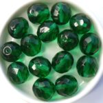0100378 Emerald, Facet 12 mm. 6 Pc.-0