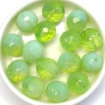 0100445 Chrysolite Opal, Facet 12 mm. 6 Pc.-0