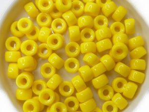0130014 Opaque Yellow Roller Bead. 40 Pc.-0