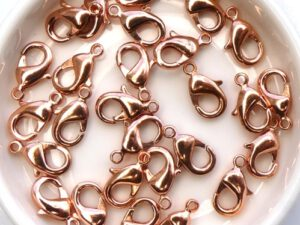 0160006 Karabijnslotje Copper coated, eerste keus 12 mm. 6 Pc.-0