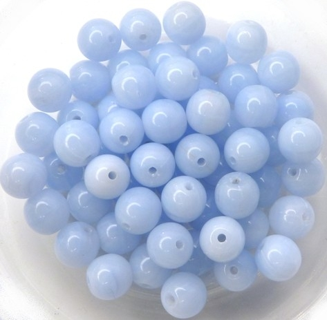 06-R-33000 Opaque Light Blue Round 6 mm. 50 Pc.-0