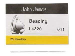 #11.L4320 John James Beading Naalden #11, 25 stuks-0