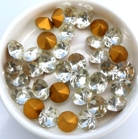 SS41-MCC-00030-98521 Vintage Crystal Gold Foiled Chaton 12 Pc.-0