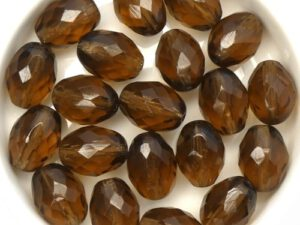 0030320 Smoke Topaz Oval Facet 13 x 10 mm. 8 Pc.-0