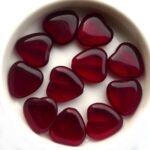 0050008 Garnet Red Heart 8 Pc-0
