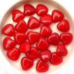 0050060 Opaque Red Heart 16 Pc-0