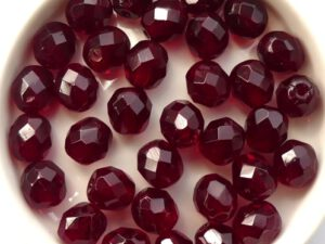 0050214 Garnet, Facet 8 mm. 15 Pc.-0