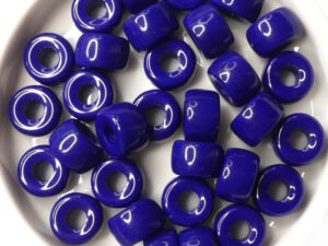 0090025 Opaque Navy Blue Roller Bead. 25 Pc.-0