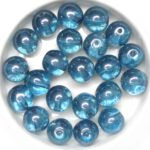 0090210 Crystal Blue Luster Round 10 mm. 15 Pc.-0
