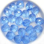 0090373 Light Sapphire Round Facet 10 mm. 10 Pc.-0
