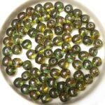 0100042 Crystal, Green Blue Lazura Round 5 mm. 50 Pc.-0
