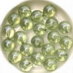 0100045 Crystal Green Luster Round 10 mm. 15 Pc. -0