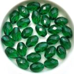 0100518 Emerald Oval Facet 11 x 8 mm. 14 Pc.-0