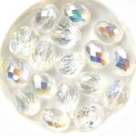 0150134 Crystal AB Oval Facet 13 x 10 mm. 6 Pc.-0