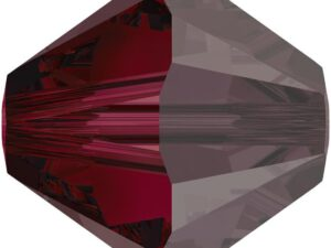 SW-04-RUSAT 5301 Ruby Satin Swarovski Bicone 4 mm. 40 Pc.-0