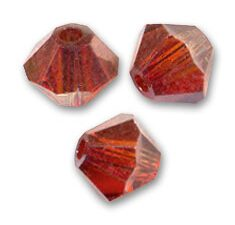 SW-04-CREMA 5328 Crystal Red Magma Swarovski Bicone 4 mm. 40 Pc.-0