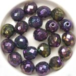 0080694 Jet Iris Purple facet 10 mm. 10 Pc.-0