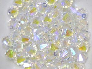 06-MC-00010-28701X2 Bicone Crystal Full AB 6 mm. 24 Pc.-0