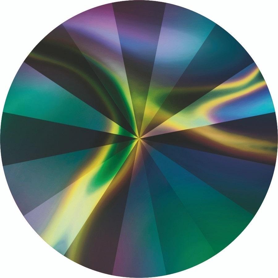 14 mm. 001-RABDK Crystal Rainbow Dark Foiled 1122 Swarovski Rivoli-0