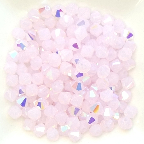 04-MC-71210-28701 Bicone, Pink Opal AB 4 mm. 50 Pc.-0