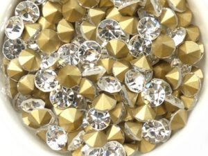 SS29-MCC-00030-98521 Crystal Gold Foiled Chaton 6 mm. 12 Pc.-0