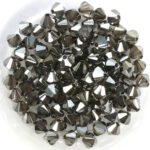 04-MC-00010-27201 Crystal Vacuum Hematite Bicones 50 Pc.-0