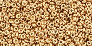 TN-11-PF0551 Demi Round TOHO Perma Finish - Galvanized Rose Gold 5 gram-0