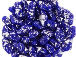 GD-33050-15481GemDuo Opaque Royal Blue Silver Splash 10 gram-0