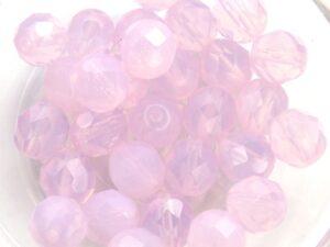 0070428 Milky Light rose Facet 8 mm.-0