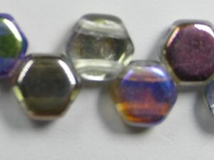 HON-00030-98537, Crystal Graphite Rainbow Honeycomb Beads, 30 stuks-0