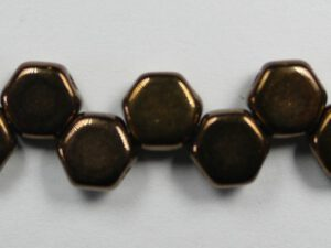 HON-23980-14415 Jet Dark Bronze Honeycomb Beads, 30 stuks-0