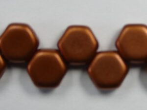 HON-00030-01750 Matte Metallic Copper Honeycomb Beads, 30 stuks-0