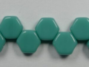HON-63120, Opaque Green Turquoise Honeycomb Beads, 30 stuks-0