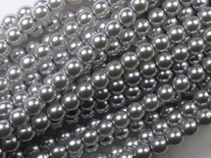 04-132-19001-70483 Shiny Platinum Glass Pearl 120 pc-0
