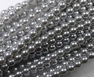04-132-19001-70483 Shiny Platinum Glass Pearl 120 pc-0